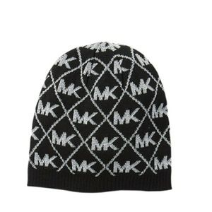 Michael Kors Diamond Metallic Logo Beanie
